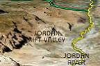 jordan valley and west bank mountain ridge